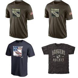 Wholesale NHL New York Rangers T Shirts cheap Hockey jerseys Tshirts Salute To Service Camo Stack Tri Blend