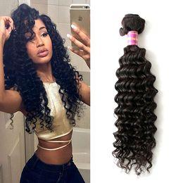 8A Brazilian Deep Curly Virgin Hair Unprocessed Brazilian Deep Wave 1 Bundles Brazilian Curly Hair Cheap Human Hair Extensions