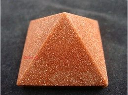 Wholesale stone pad Natural crystal sands stone pyramid decoration feng shui decoration MM MM decorative stone gardens stone pad