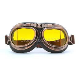Compra Online Cascos de moto de época-Gafas de la vendimia de la motocicleta Vespa anteojos de la motocicleta de ciclo Gafas de piloto de motos retro Jet Casco Gafas