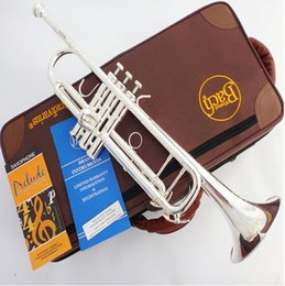 Wholesale Bach Original authentic Double silver plated TR GS B flat professional trumpet musical instruments Brass