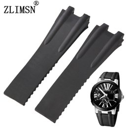 Watch Bands 27mm Rubber Black Diver Watch Strap Band For U-N Rubber Men Women Relojes Hombre 2016 Leather