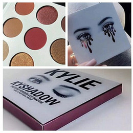 Wholesale 2016 Brand new Kylie Jenner Burgundy Eyeshadow Kyshadow Palette colors purple package hot item by dhl