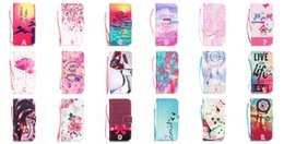 Wholesale Dreamcatcher Flower Wallet Leather For Iphone7 Iphone I7 Plus Eiffel Tower Sunrise Cake Family Skull Owl Case Pouch Stand Flip Cover Strap