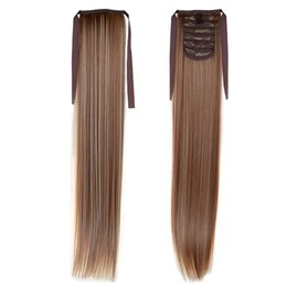 """Hot Selling 1PC Synthetic Tail Extensions 50cm 22"""" 100g #12 613 Mixed Color Heat Resistant Fiber Free Shipping Silky Straight Long Ponytail"""