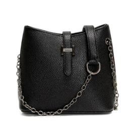 Women Messenger Bags Leather Chain Bucket Crossbody Bag Female Designer Vintage Small Sling Bags 2015 New Bolsos Femininas