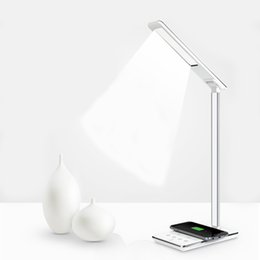 Wholesale Eye Lamp Adjustable Lighting Folding Table Reading Light With QI Wireless Charging Cradle Function Lamps Wireless Charging