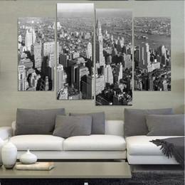 Ville peintures à l'huile de paysage en Ligne-(2) Belle grande ville Vue verticale Paysage Peinture à l'huile Art de mur Décoration intérieure Toile Peintures pour salon Sans cadre