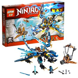 Wholesale 378Pcs LEPIN Ninjagoes Jay s Elemental Dragon Building Block Set Jay Cyrene Monkey Minifigures Toy Compatible with Legoes