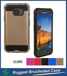 Hot Selling Rugged Brushed Cell Phone Case Dual Layer Wire Drawing Case For Samsung G891