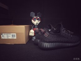 Kanye West Boost Pirate Black 350 Shoes Ultra Shoes Black Sneakers Free Shipping