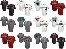 Men's Arizona Diamondbacks #51 randy johnson #44 Paul Goldschmidt Cool Base Black White Red Grey Wholesale Cheap Jersey Embroidery Logos