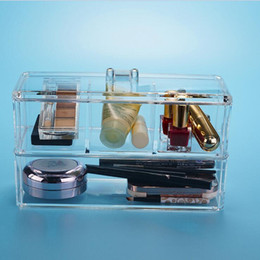 Wholesale New Clear Acrylic Make Up Storage Box Cosmetic Organiser Jewellery Display Case