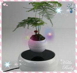 Wholesale 20 dhl free new magnetic levitating floating plant flower display stands rotating air bonsai plants display stands