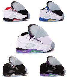Wholesale 2016 zapatos de baloncesto hombre de aire retro de V de aire atléticos Calzado deportivo retro respirables de las zapatillas de deporte atasco del espacio de las principales marcas de envío gratis en venta