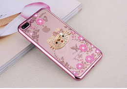 Wholesale for iPhone X Electroplating Soft TPU phone Case with Diamond Secret Garden Flower Cover Stand
