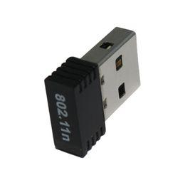 Wholesale 150M Wireless Mini USB WIFI Adapter IEEE n g b Netword Card Antenna Wifi Signal Transmitter Receiver Desktop WLAN Adapter