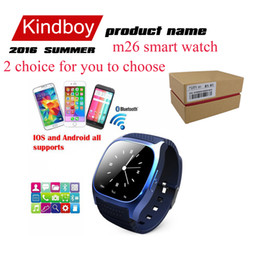 Wholesale 2016 Bluetooth Smart Watches M26 Watch for iPhone Samsung HTC Android Phone health smartwatch woman free DHL VS DZ09 U8