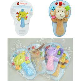 18.5*12CM Sozzy Baby Toy Babies Cartoon Animal Dolls Toys Boys Girls Plush Toys Varita Rattle Brinquedos Sozzy Handbell