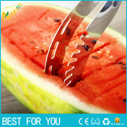 Wholesale New arrival Hot Watermelon Knife Cutter Slicer Corer Server Scoop Kitchen Tool Fruit Knife Splitter Slicer Cutter