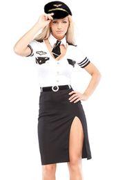 2017 bar business Gros-2016 New Policières sexy bureau OL vêtements goût Rôle Halloween jeu de scène Bar Police Costume Cosplay abordable bar business