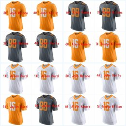 Wholesale Custom Alvin Kamara Preston Williams Jalen Hurd Josh Malone John Kelly Joshua Dobbs Peyton Manning Football Stitched Jerseys
