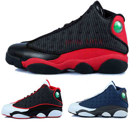 Wholesale 2016 air retro XIII man Basketball Shoes red Bred He Got Game Black Sneaker Sport Shoes Online Sale Size