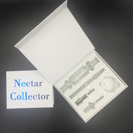 Ongles en verre pour l'huile à vendre-Nectar Collector Honeystraw Kit concentré 10mm 14mm 19mm en acier inoxydable avec verre Nails Dish Rigs Oil Bong en verre pour les conduites d'eau