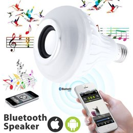 Edison2011 E27 LED Bulbs Wireless Bluetooth 6W LED Speaker Bulb RGBW Music Playing Lighting With 24 Keys IR Remote Control Free Shipping