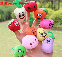 Brand 10pcs Set Different Styles Fruit Vegetable Finger Puppet Set For Kid Children Unisex Finger Toys Education Toy