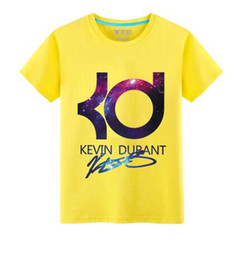 Wholesale 2016 New Kevin durant basketball t shirt jersey sports loose best on sale letter KD men tops tee basic daily wear summer S XL