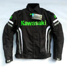 Wholesale kawasaki New model windproof motorcycle off road jackets automobile race riding jackets motorcycle race clothing