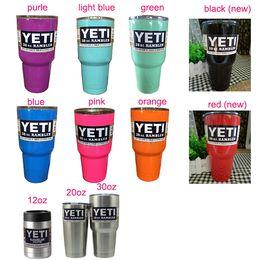 Wholesale colorful new yeti oz cup YETI Tumbler Rambler Cups Large Capacity Stainless Steel Tumbler Mugs For Travel Vehicle Beer YETI Mug