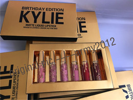 Wholesale IN Stock Kylie Lord Metal Gold THE LIMITED EDITION KYLIE BIRTHDAY COLLECTION Kylie Cosmetics Birthday Edition with DHL SHIPPING