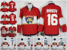 Wholesale 2017 Florida Panthers Jaromir Jagr Roberto Luongo Aleksander Barkov Aaron Ekblad Red white Best Quality Mix Order