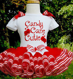 2016 Baby Girl christmas dress sweet princess vestidos candy cane cutie letter print Clothes best gift kids TUTU Party Tulle funny Dresses