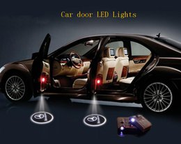 Wholesale 2016 Hot Wireless Car Door LED Lights Logo Projector Ghost Shadow Light Hundreds Of Designs To Choose pattern Lights