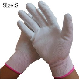 White PU Glove Palm Coated 13 Gauge Nylon For Hands Protecting Anti-Static Glove Fine Inudustry Use Ladies Glove