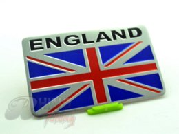 Wholesale Silver Aluminum UK Flag Car Body Tailgate Emblem Sticker Union Jack Flag Badge for ALL Car