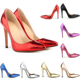The small crocodile women pump sexy cusp shoe heels spring brand wedding pumps large volume 35-42 302-1XEY