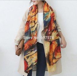 Wholesale Cashmere Scarves Match - 2016 Autumn and winter new style Graffiti imitation cashmere scarf fashion women soft printing all-match shawl HJIA603