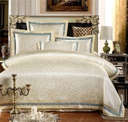 Wholesale High class european style jacquard bedding pieces cotton satin drill cotton covered manufacturers selling Suitable for the