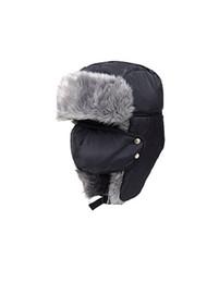 Mens volets casquettes d'hiver de l'oreille en Ligne-Hommes Nylon style russe Ski Cap femmes hiver ski casquette chapeau oreiller imperméable et imperméable Hat