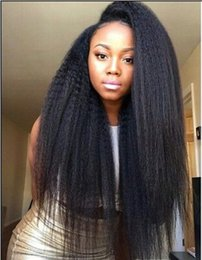 Mongolian Virgin Human Hair Wigs for Black Women Kinky Straight Lace Front Wigs Human Hair Natural Color Bellahair DHL