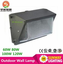 Wholesale DHL Free AC110 V W W W W led wall pack light lamp outdoor led wall mounted light lamp equivalent W traditional wallpack lamp