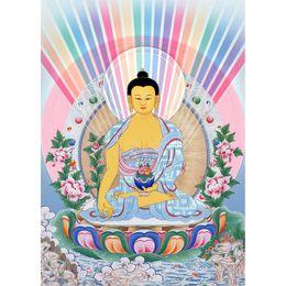 Wholesale DIY diamond painting Thangka medicine guru Buddha stitch rhinestone stick mosaic crafts home decoration x56cm LF