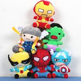 Wholesale The avengers plush dolls toy superman spiderman batman toys super heroes avengers Alliance marvel the avengers dolls Q version