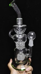 Hitman Klein Recycler vapor rig scientific bong phonix glass bong water pipe Pulse bong BIO glass dabrigs glass waterpipe barrel incycler