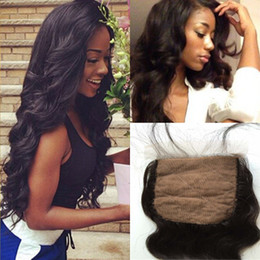 Wholesale Silk Base Brazilian Body Wave Lace Closure Mink Hair Unprocessed Human Hair Weave Pieces Natural ColorTipQuality
