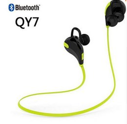 Wholesale NEW QY7 In Ear Bluetooth Stereo Headset Wireless Earphone Handsfree sport headphone With Mic For LG iPhone Samsung